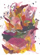 Fuschia Mixed Media Prints - Just a Crazy Thought Print by Heather Moore