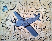 Plane Painting Originals - Just a plane by Jesse Johnson
