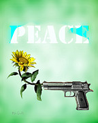 Peace Digital Art Metal Prints - Just A Thought Metal Print by Bob Orsillo