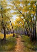 Autumn Trees Pastels Prints - Just before Autumn Print by Susan Jenkins