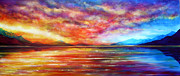 Top Paintings - Just Beyond the Sunset by Ann Marie Bone