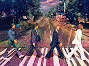 Iconic Paintings - Just Crossing the Street by Angela A Stanton