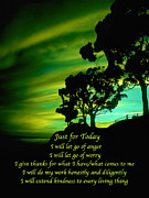 Affirmation Photos - Just for Today 3 by ABeautifulSky  Photography