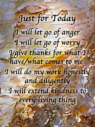 Affirmation Prints - Just for Today 4 Print by ABeautifulSky  Photography