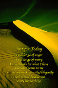 Affirmation Prints - Just for Today 6 Print by ABeautifulSky  Photography