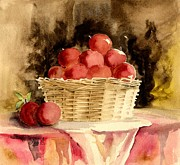 Peaches Painting Prints - Just For You Print by Melly Terpening
