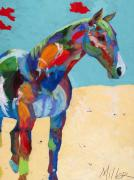 Western Abstract Painting Originals - Just Hangin Around by Tracy Miller