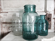 Ball Jars Prints - Just Jars Print by Angela Mahoney