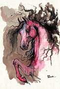 Wild Horse Metal Prints - Just like a fire Metal Print by Angel  Tarantella