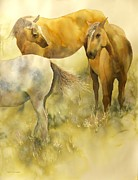 Original Horse Paintings - Just Looking by Robert Hooper
