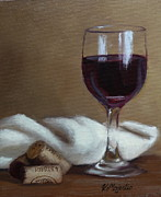 Winery Paintings - Just one glass. by Viktoria K Majestic