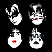 Peter Criss Prints - Just One Kiss Print by Gordon Dean II