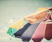 Beach Umbrella Posters - Just Passing By Poster by Lisa Russo