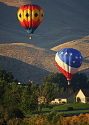 Prosser Balloon Rally Prints - Just Passing Through Print by Carol Groenen