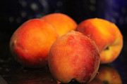 Peaches Photo Prints - Just Picked Print by Andi M Gerich