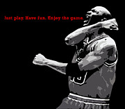 Chicago Bulls Metal Prints - Just Play Metal Print by Mike Maher