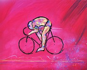Bike Drawings - Just Ride by David Keenan
