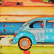 Vw Beetle Mixed Media Framed Prints - Just Roll with It Framed Print by Danny Phillips