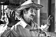 Just Shoot Me Said The Cowboy- Black And White Print by Kathleen K Parker