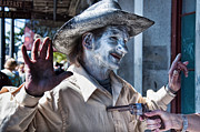 Street Photography Digital Art - Just Shoot Me Said The Cowboy by Kathleen K Parker