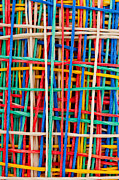 Yellow Line Sculpture Prints - Just strings attached I Print by Shawn Hempel