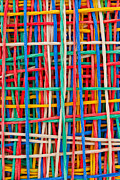 Color Sculpture Metal Prints - Just strings attached II Metal Print by Shawn Hempel