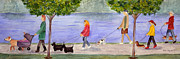 Full-length Portrait Painting Prints - Just Strolling at Capitol Lake Print by Pete Bryan