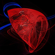 Heart Healthy Metal Prints - Just The Beat Of My Heart - Human Heart - Abstract - Organ Metal Print by Andee Photography