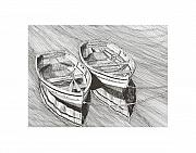 Yachts Drawings Prints - Just the two of us Print by Jack Pumphrey