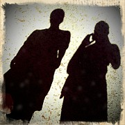 Portraits Art - Just the two of us - shadows of a couple by Matthias Hauser