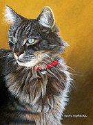 Whiskers Pastels Metal Prints - Just watching Metal Print by Sandra Sengstock-Miller