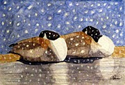 Canadian Geese Paintings - Just We Two by Angela Davies