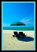 Beach Umbrella Posters - Just YOU and ME and The Beach Poster by Susanne Van Hulst