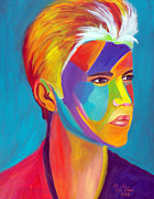 Songwriter Painting Originals - Justin Bieber 2 by To-Tam Gerwe
