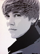 Pop Star Painting Originals - Justin Bieber by Siobhan Bevans