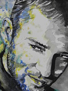 American Singer Paintings - Justin Timberlake...02 by Chrisann Ellis