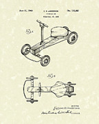 Child Drawings Prints - Juvenile Car 1940 Patent Art Print by Prior Art Design