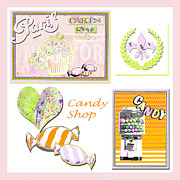 Stationery Licensing Posters - Juvenile Licensing Art - Candy Shop Poster by Anahi DeCanio
