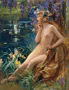 Farries Framed Prints - Juventa Framed Print by Gaston Bussiere