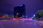 Jw Marriott Prints - JW Marriott Light Streaks Print by David Haskett