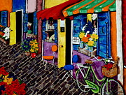 French Wine Bottles Painting Posters - K 21 Street Poster by Jackie Carpenter