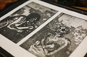 Printmaking Mixed Media Framed Prints - K Double-You A Framed Print by J Ethan Hopper