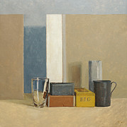 Boxes Painting Metal Prints - K L G Metal Print by William Packer