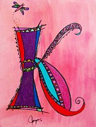 Fantasy Originals - K Monogram by Joyce Auteri