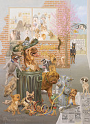 K9 Cuisine Print by Victor Powell