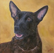 Canine Unit Posters - K9 Officer Tommy- Dutch Shepherd Poster by Barb Yates