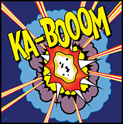 Warhol Framed Prints - Ka-Boom 2 Framed Print by Gary Grayson