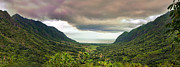 Jurassic Park Prints - Kaaawa valley panorama Print by Dan McManus