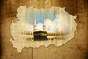 Namaz Paintings - Kabah by Catf
