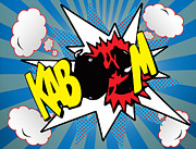 Caricature Prints - Kaboom Print by Mark Ashkenazi